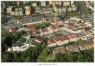 Letecký pohled na Frýdek-Místek a náměstí